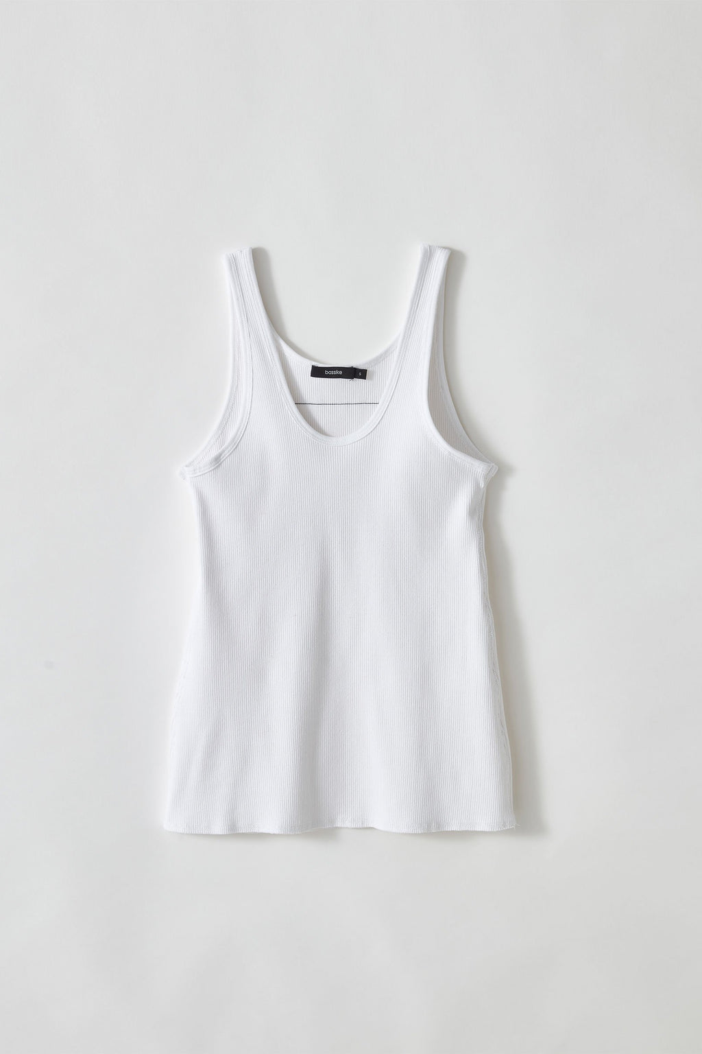 Fitted Scoop Rib Tank White