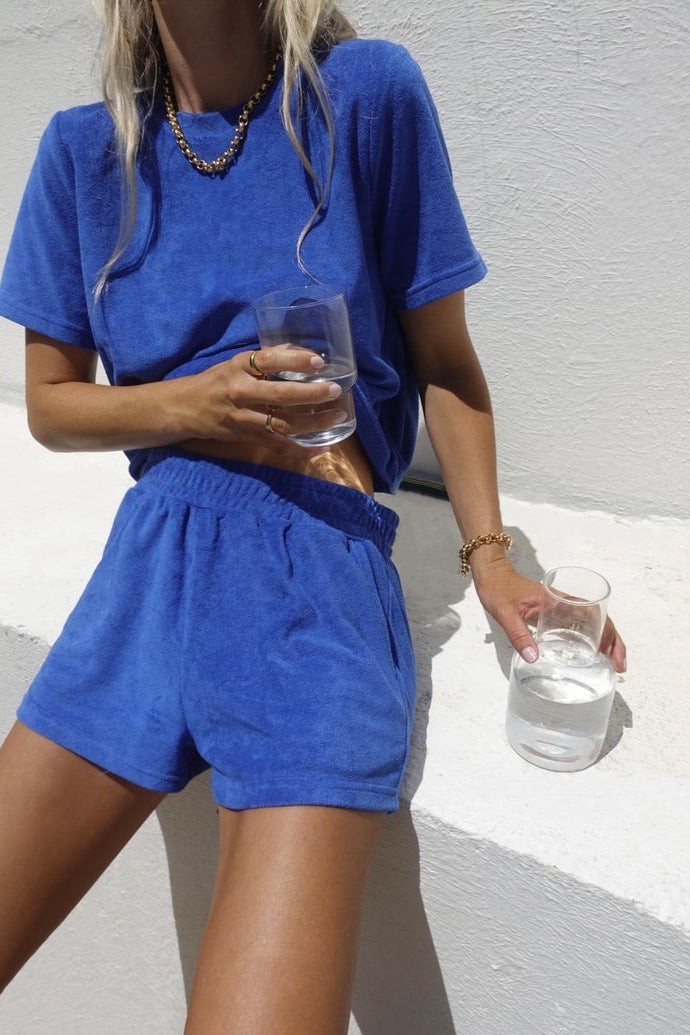 Terry Towelling Top French Blue