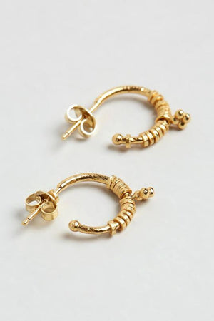 Gold Charmed Hoops