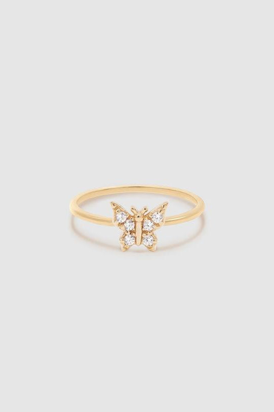 14k Gold Fly With Me Ring