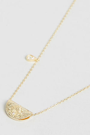 Gold Love Deeply Necklace - June Birthstone