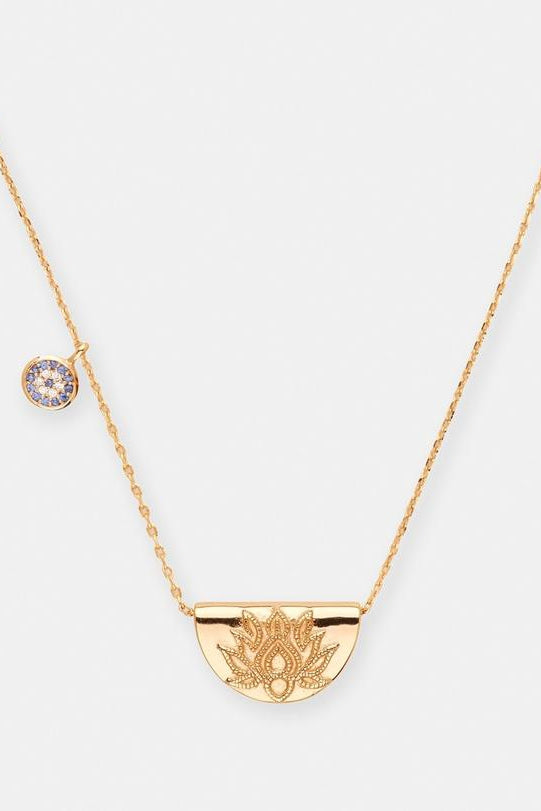 Gold Lucky Lotus Necklace