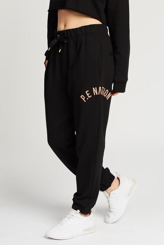 Drop Shot Track Pants Black