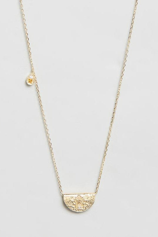 Gold Illuminate Truth Necklace - November Birthstone