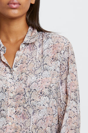 Kathryn Button Down Watercolor Snake
