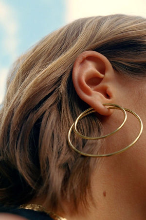 Senorita 50 Hoop Earrings Gold
