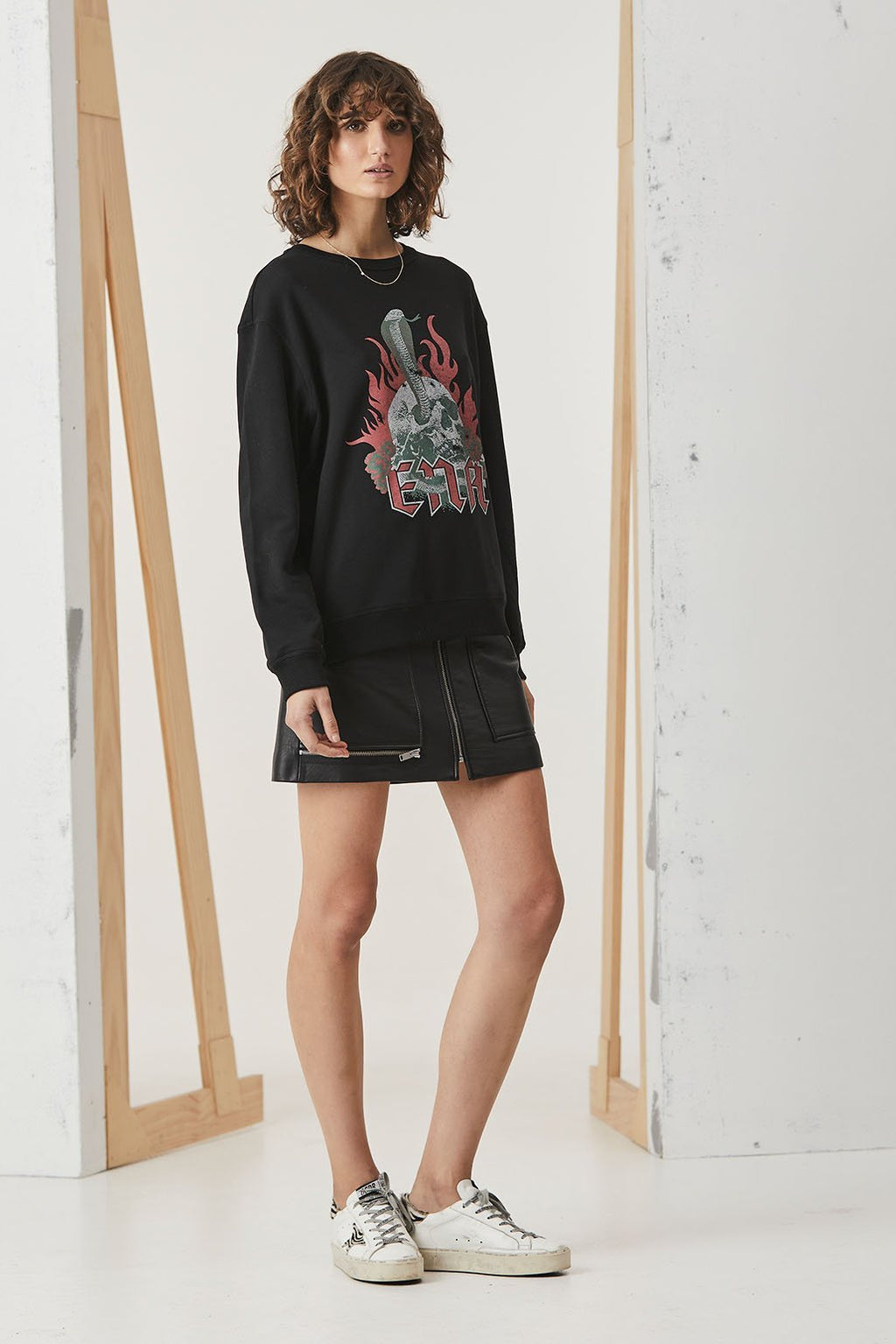 Skulls n Roses Graphic Sweatshirt