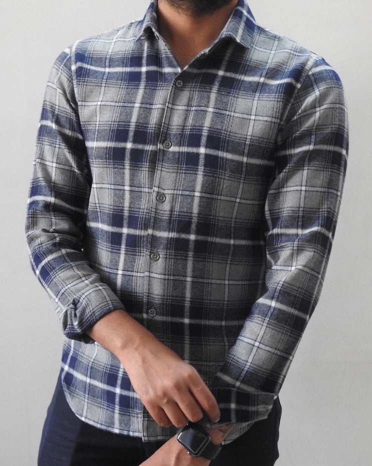 Brushed Cotton Flannel Shirt