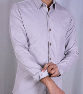 Fog Grey Corduroy Shirt