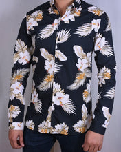 Load image into Gallery viewer, Black Tropical Print Shirt