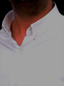 100% Cotton Twill button down formal white shirt