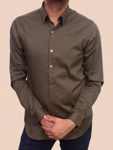 100% Cotton lycra semi formal shirt