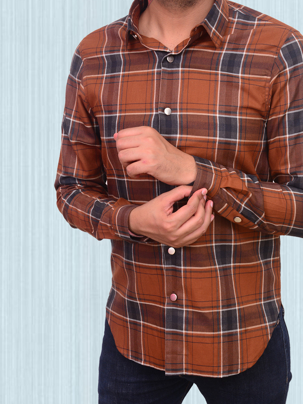 100% Cotton yarn dyed check shirt