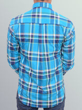 Load image into Gallery viewer, 100% Cotton Turquoise blue yarn dyed shirt
