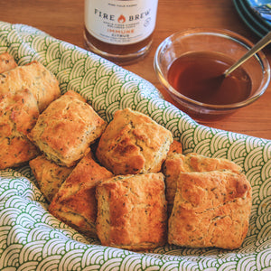 Rosemary Biscuits with a Citrus Honey Glaze