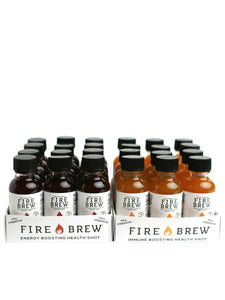 Fire Brew | Immune - Citrus + Beet - Energy | Apple Cider Vinegar Superfood Tonic - 1 oz Bottles