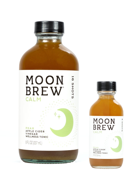 Moon Brew | Calm - Pear | Apple Cider Vinegar Mood Balancing Tonic