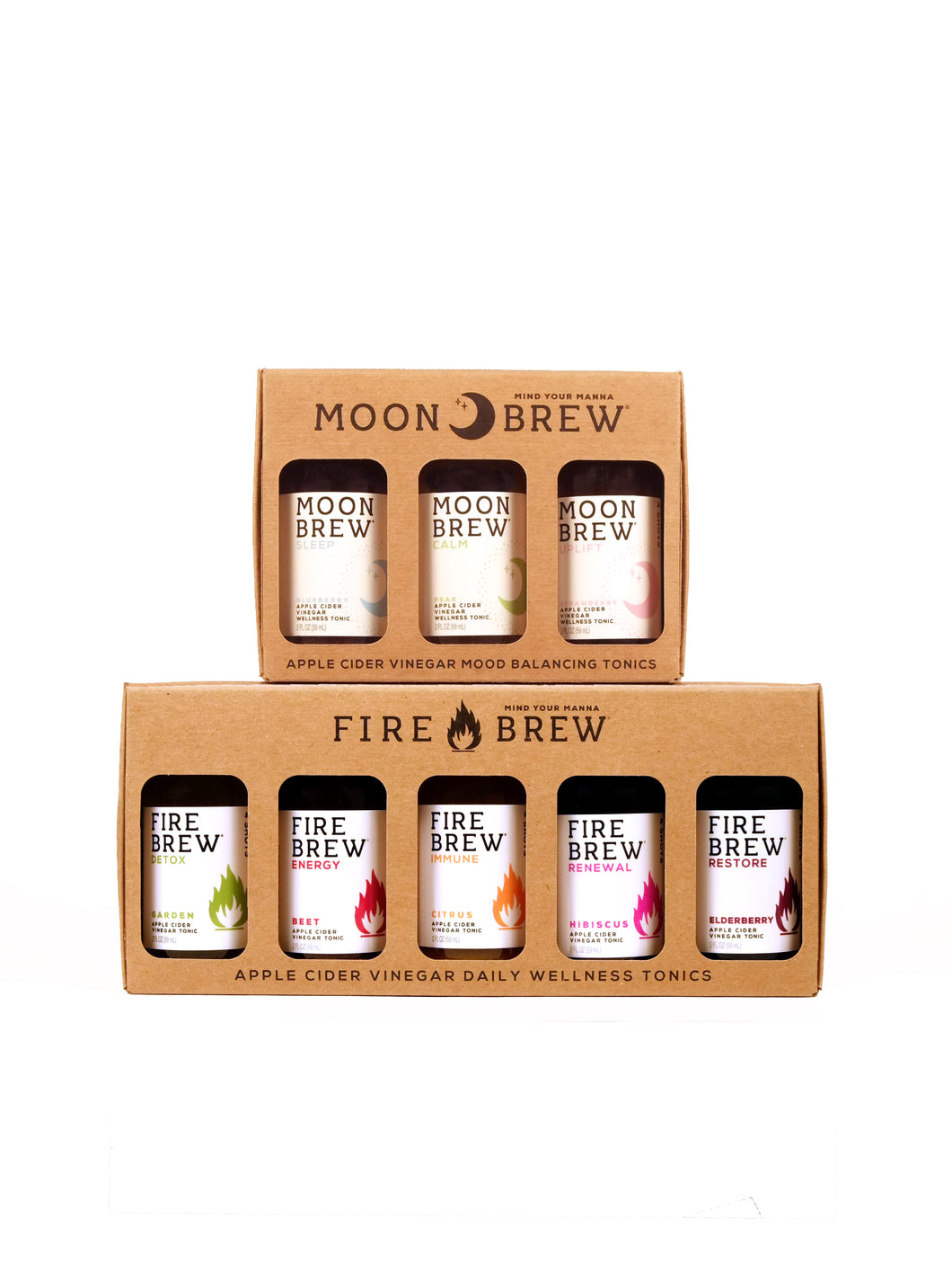 Moon & Fire Brew - Yin Yang Sampler Gift Pack Apple Cider Vinegar (Fire Cider) Tonics
