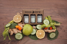 Moon Brew - Triple Crown Sampler 3 Pack Apple Cider Vinegar Tonics (Non-Spicy Fire Cider Recipe)