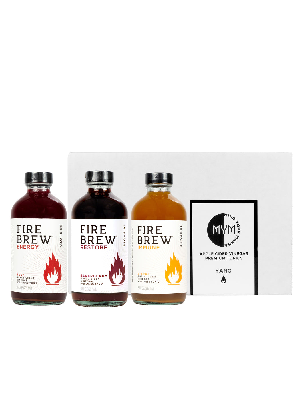 Fire Brew | Yang 8oz Gift Box | Apple Cider Vinegar Superfood Tonic