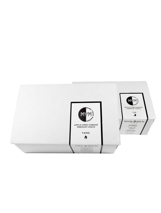 Yin Yang 8oz Gift Box Two Pack | Apple Cider Vinegar Superfood and Mood Balancing Tonic