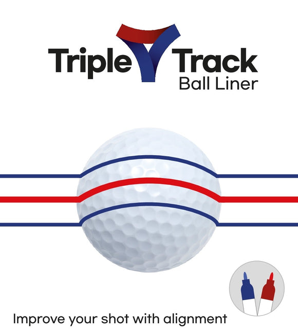 Triple Track Ball liner - Alignment Tool + 2 pens (blue and red)