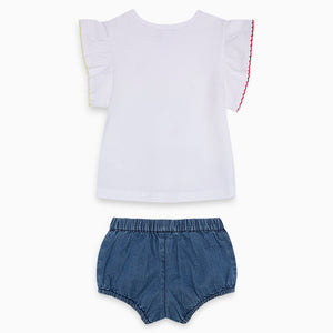 T-Shirt and Denim Short