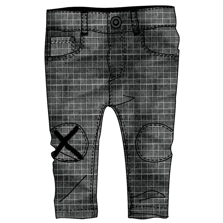 WOVEN DENIM TROUSERS