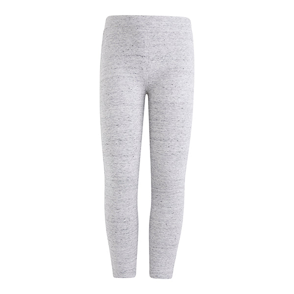 MELANGE POCKETS PLUSH LEGGINGS - GIRL