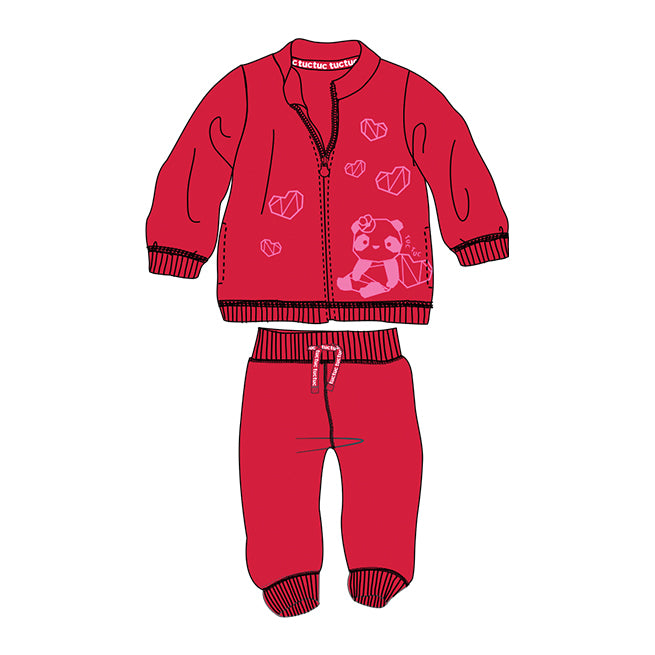 SUEDE PLUSH TRACKSUIT FOR GIRLS