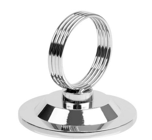 "Card Holder 21/2"" Chrome ring Style"
