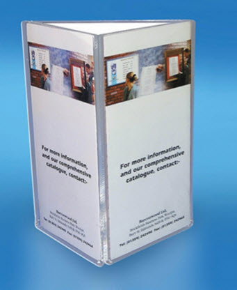 Menu Table Talker 3 Sided A6