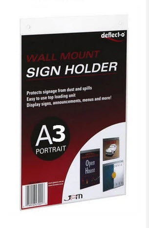 A3 Portrait Acrylic Sleeve screw mounting