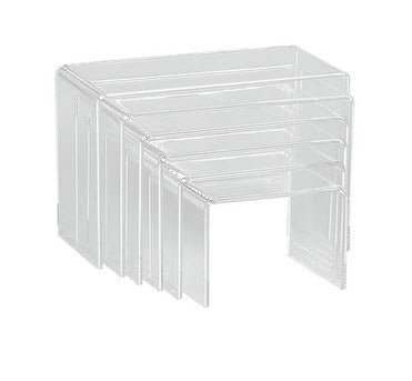 Acrylic Display Risers Rectangular set of 6