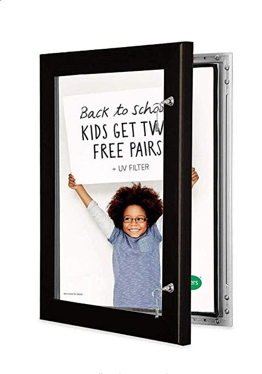 Outdoor Black AO Lockable Poster Frame