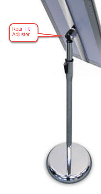 Freestanding Black A3 Adjustable Snap Frame Display Stand