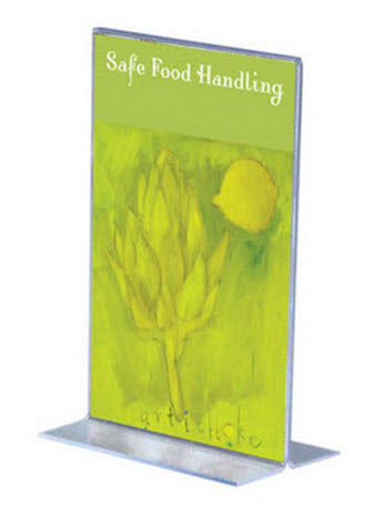 Acrylic T Base DLE Portrait Display Holder