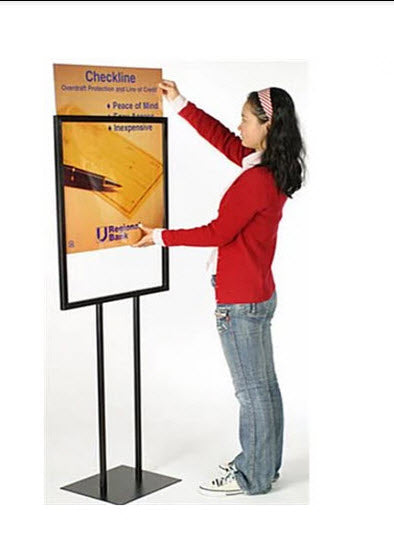 A2 Poster Stand Sign Holder Black