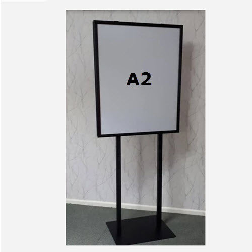 A2 Retail Sign Holder Double Sided Snap Frame Black