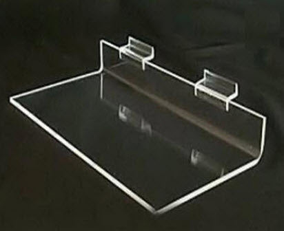 Slatwall Acrylic Shoe Display Shelf