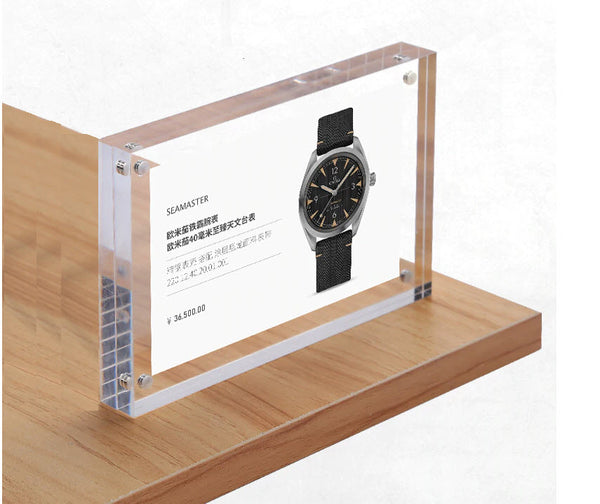 Magnetic Acrylic A6 POS Display Blocks