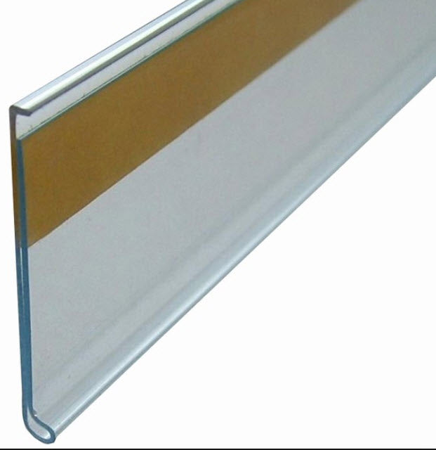 Data Ticket Strip 60mm Flat Clear x 1200mm length Buy 20+ Save 10% - 100+ Save 20%