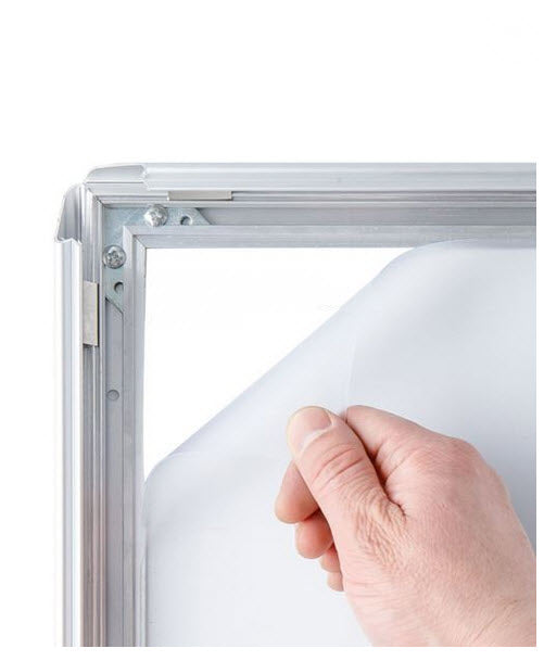 Wide Profile Silver Premium Snap Frame Size A4
