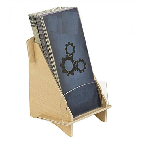 Plywood Brochure Holder DLE Freestanding