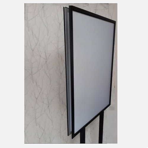 A1 Retail Sign Holder Double Sided Snap Frame Black