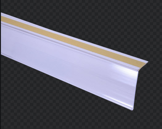 Data Ticket Strip Angled  30mm Flat Clear x 1200mm length Buy 20+ Save 10% - 100+ Save 20%