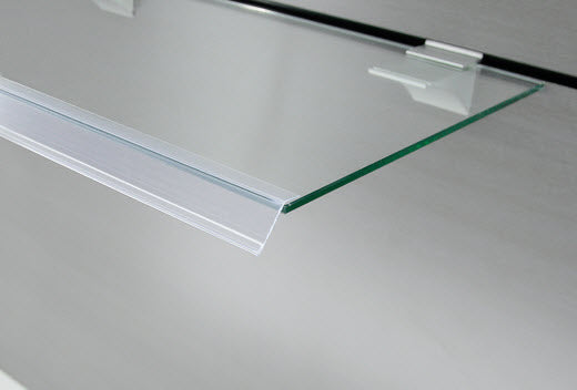 Data Ticket Strip Angled  26mm Flat Clear x 1200mm length Buy 20+ Save 10% - 100+ Save 20%