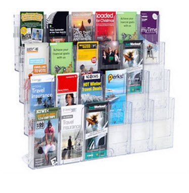 Wall Mounted Lit Loc Display 24 x DLE 4 Rows x 6 Wide