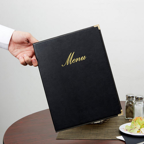 Restaurant A4 Menu Holder Classic Black