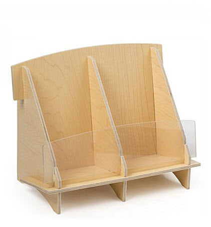 Plywood Brochure Holder DLE 2 Pocket